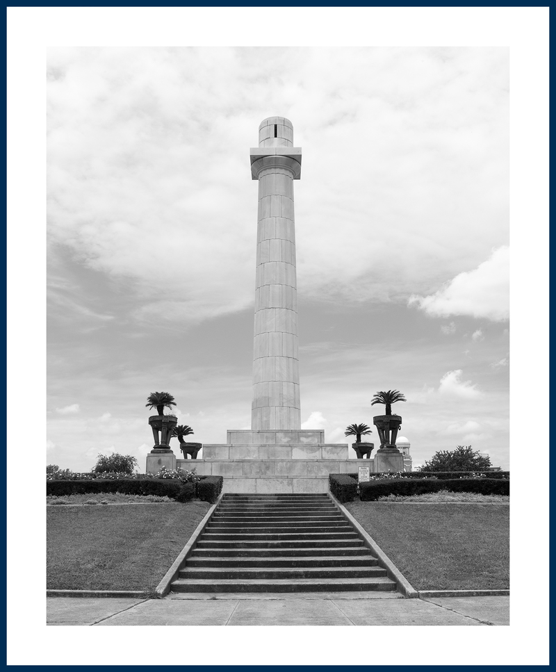 "Matthew Shain, ""Post-Monuments, New Orleans (Robert E. Lee, erected 1884)"", mounted archival pigment print in artist frame, 2017-18"