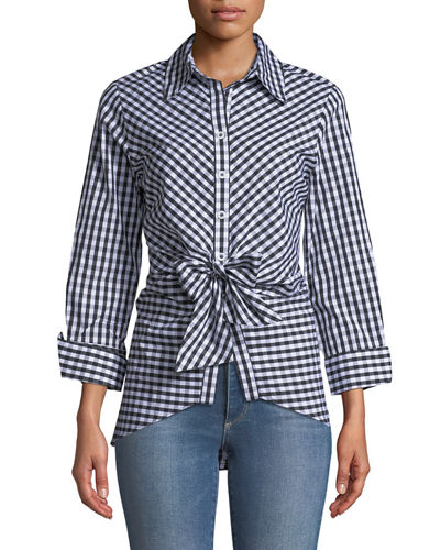 Next up, is this tie front gingham top. Lady Benton loves gingham! -