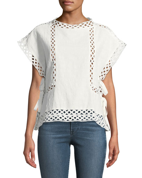 Again, who doesn't love a great white top. This is open on the side with ties, otherwise I'd wear it with just a nude bra. As it is, I will wear a white or nude tank under it. I'd love to add amonogram in the front center. -