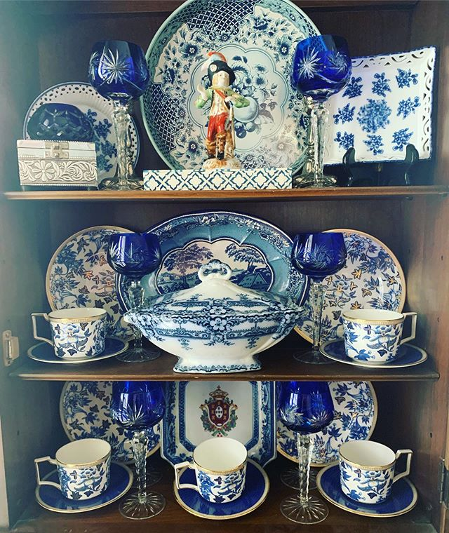 Somehow the China cabinet never gets put back quite the same and that's quite alright.