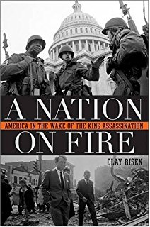 A Nation On Fire: America in the Wake of the King Assassination - A few hours after Rev. Martin Luther King, Jr. was assassinated at a Memphis motel, violent mobs had looted and burned several blocks of Washington a few miles north of the White House, centered around the U Street commercial district. Quick action by D.C. police quelled the violence, but shortly before noon the next day, looting and arson broke out anew—not just along U Street, but in two other commercial districts as well.Over the next several days, the immediate crisis of the riots was matched by an equally ominous sense among the nation's political leadership that they were watching the final dissolution of the 1960s liberal dream. For many whites who watched flames overtake city after city—Washington, Chicago, Baltimore, Kansas City—the April riots were an unfathomable and deeply troubling response during what should have been a time of national mourning. To them the rioters were little better than common criminals. But a look at the average rioter complicates such conclusions: they were primarily young (under 25) and male, but most made a decent salary, had a better than average education, and had no previous arrest record. In interviews and testimonies afterward, rioters recalled a sense of release, of striking back at the