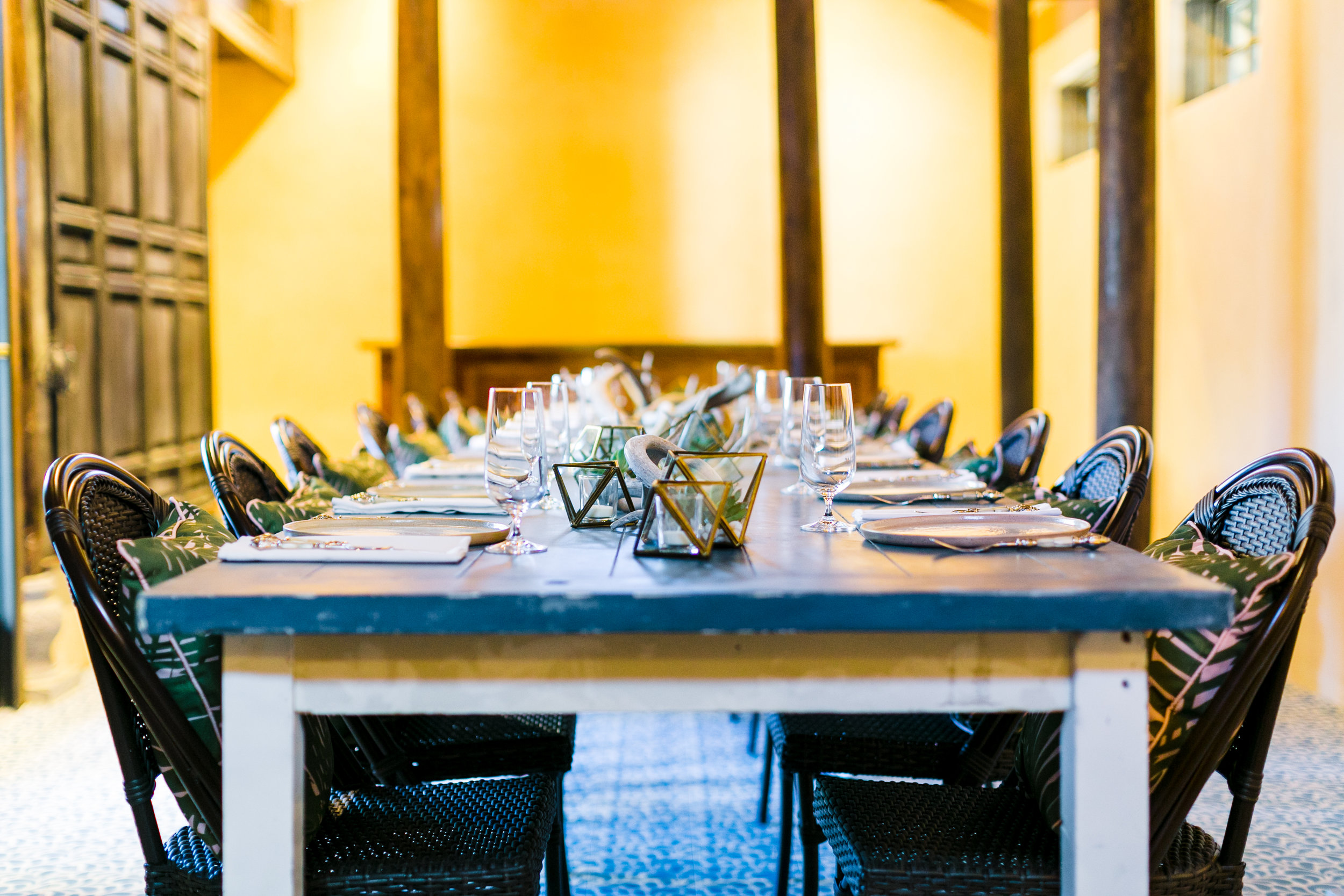 Mr. Kiem's - In addition to our main dining room, Tillie's offers a private dining room, complete with reserved outdoor space, flexible enough to host intimate meals, corporate meetings or rehearsal diners. The meeting space at Mr. Kiem's can comfortably sit as many as 20 guests.