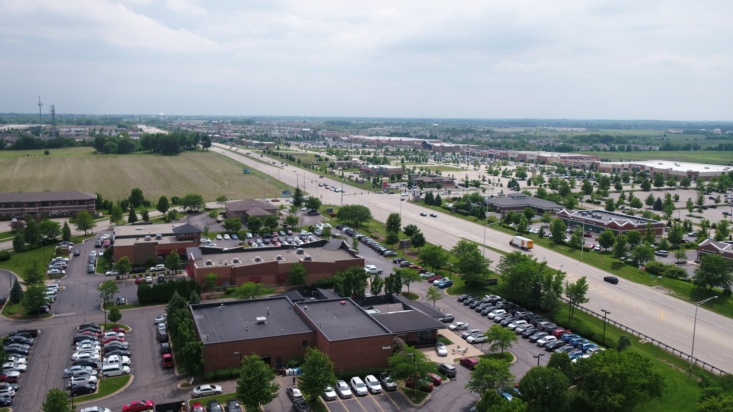 View from Above the Randall Road Retail Corridor