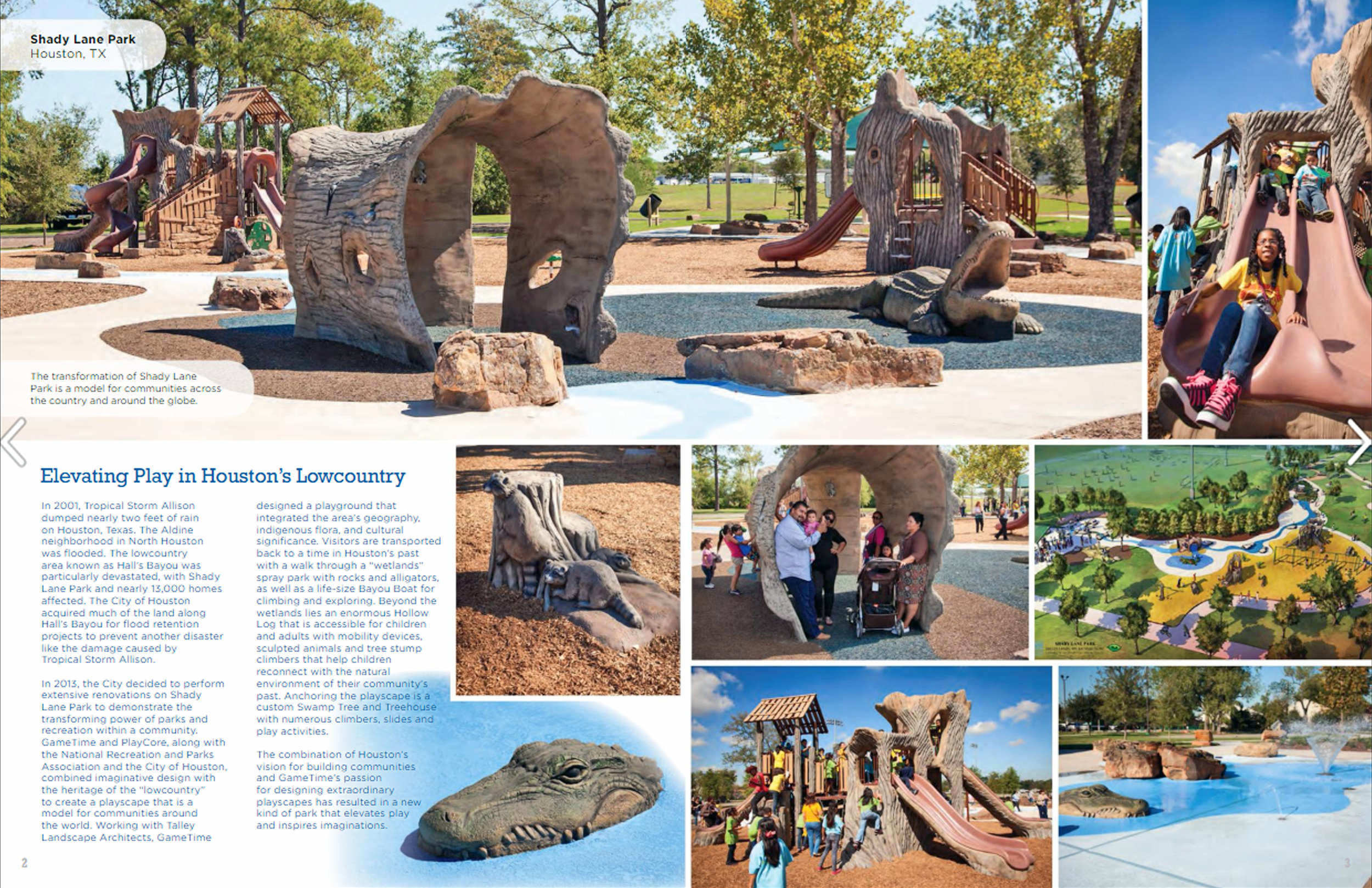 - TLA is happy to announce that the Shady Lane Park project was featured in GameTime's Catalogue.