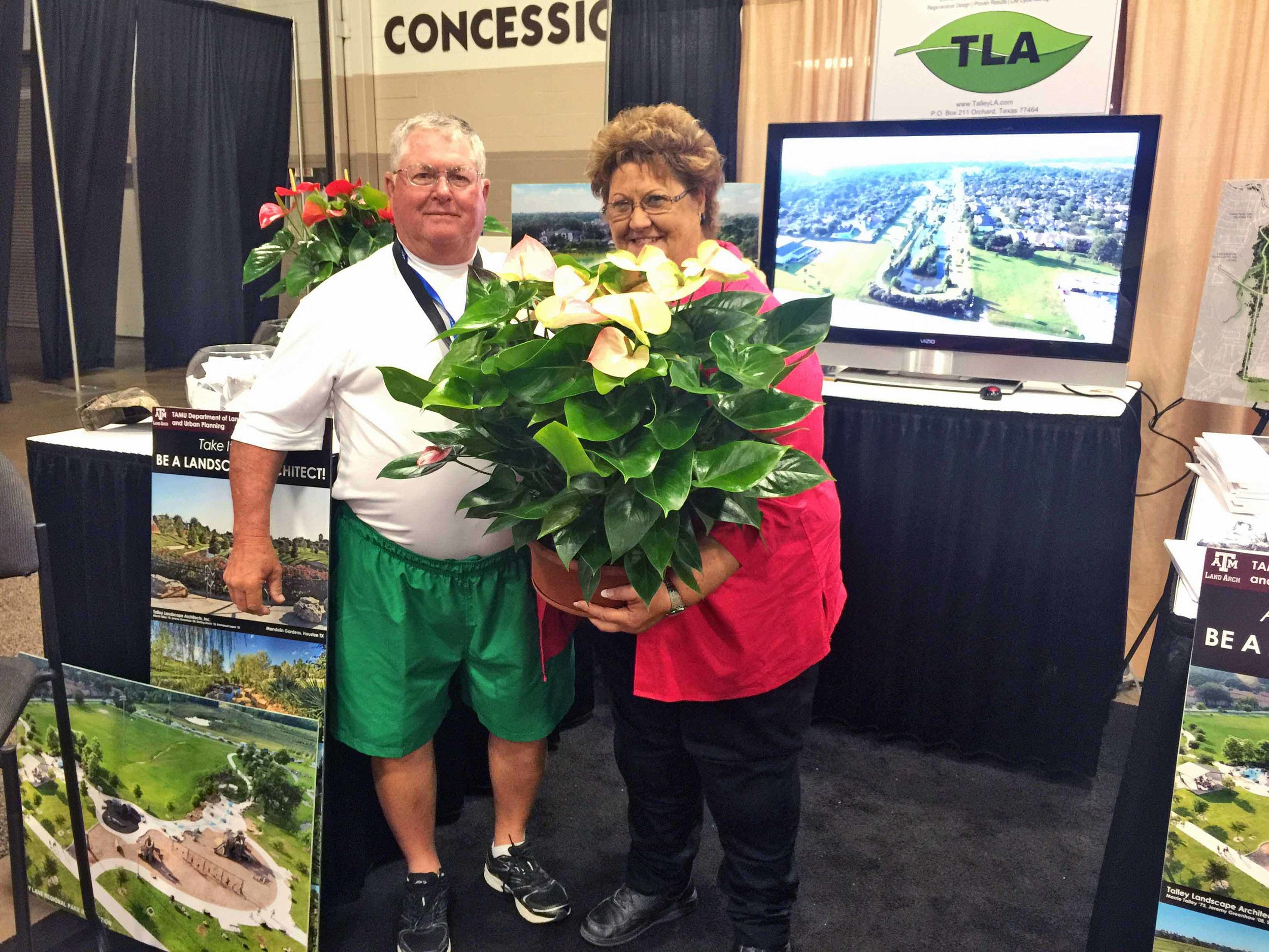 - Talley Landscape Architects, Inc. had a successful 2016 Association of Water Board Directors Conference in Fort Worth, Texas. Glad to see many familiar faces and two lucky winners went home with beautiful plants.