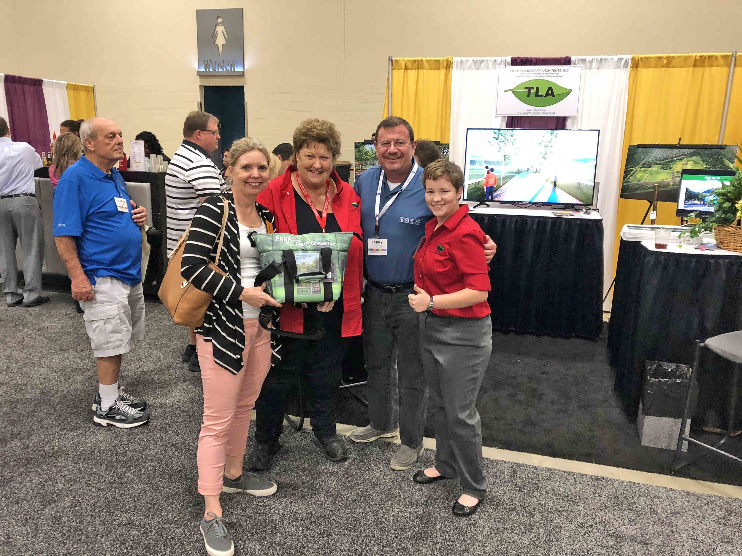 - Talley Landscape Architects, Inc. had a successful 2018 Association of Water Board Directors Conference in San Antonio, Texas. Glad to see many familiar faces and several lucky winners went home with beautiful soft sided coolers.