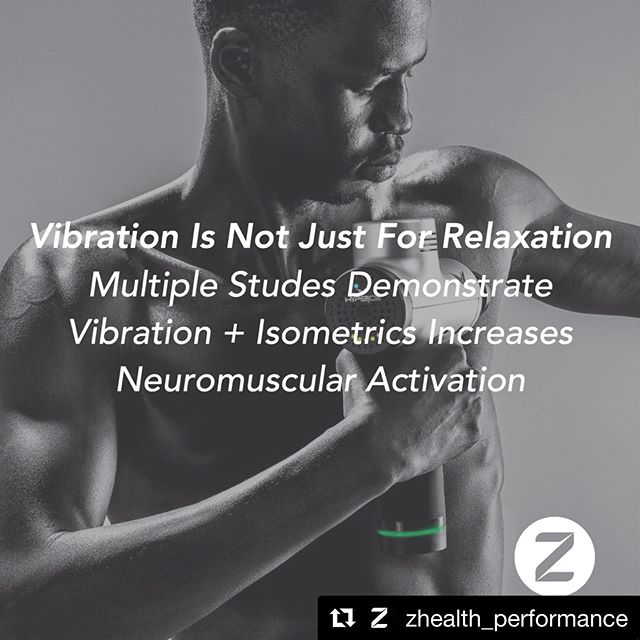 #Repost @zhealth_performance with @get_repost ・・・ One huge area of interest for us is the interaction of sensory stimuli with motor activity. While vibration is usually considered a generally relaxing sensation, multiple studies on both whole body vibration and local vibration demonstrate that when combined with isometrics significant increases in neuromuscular activation can occur. This simple idea has significant implications in both rehab and training . The hypervolt is a tool we have here at KinetX PT not only for relaxation and recovery but also for neuromuscular activation reasons that can improve your rehab outcomes! . #zhealth #vibrationtraining #buffalony #jadablitztraining #williamsvilleny #716 #neuromusculartraining
