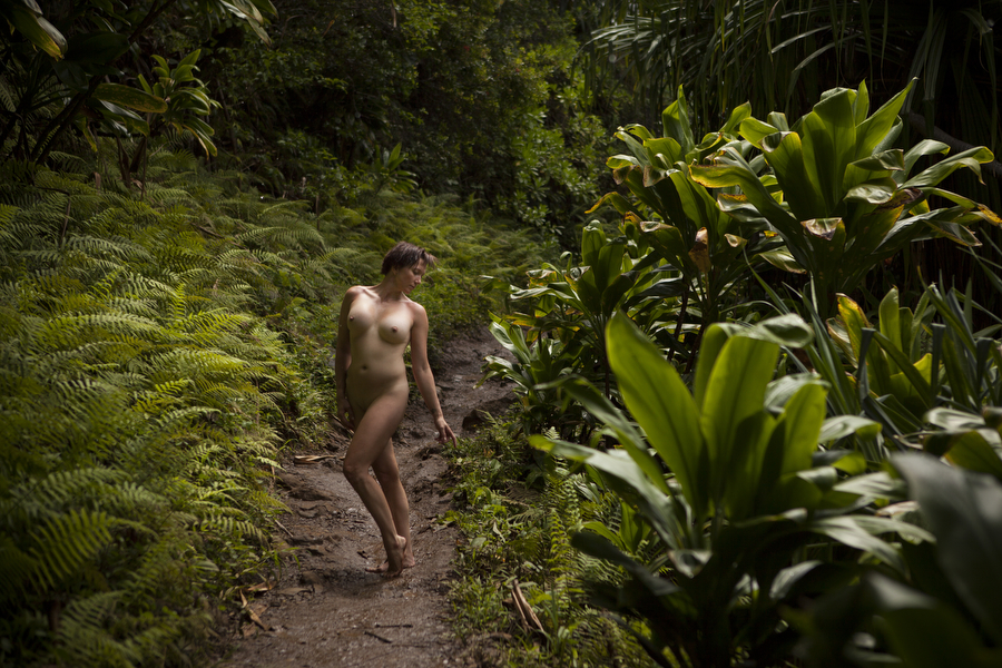 fine art nude rain forest boudoir destination kauai hawaii
