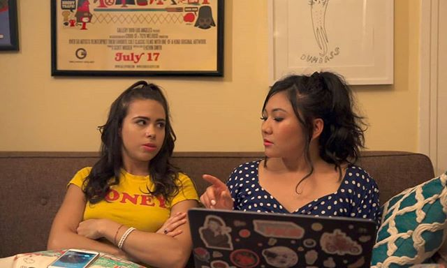 Tonight, when you get lost in the sauce, do NOT text your ex.  A still of our two leads in episode 1!