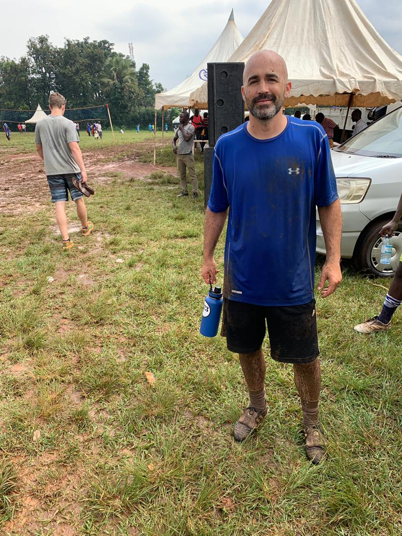 Soccer in the rainy season gets a little muddy.