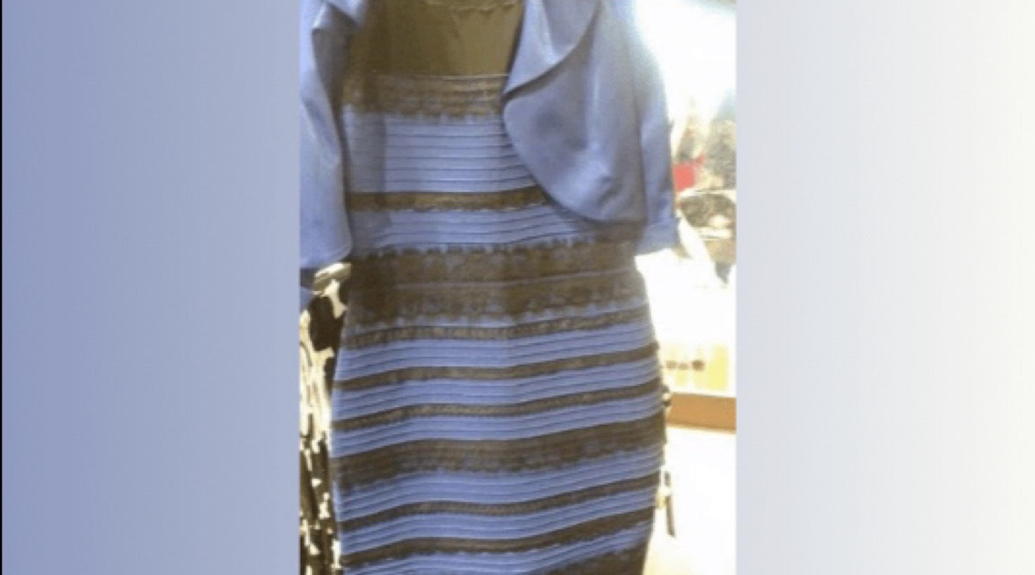 What color is the infamous dress? -