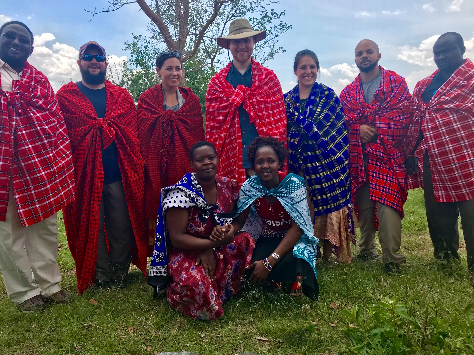 The Maasai tribe gifted us these traditional shukas, which basically means we're one of their own now :)  If I move to Kenya, it will definitely be to live amongst the Maasai!