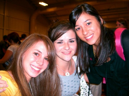 Pictured: my oldest ongoing friendships. Photo is circa 2007 — the year we were finally allowed to register on Facebook! Also, clearly, before I knew what an eyebrow pencil was……