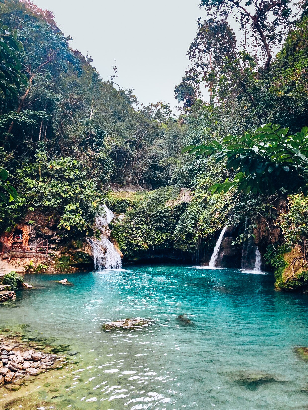 Canyoneering in the most crystal blue springs of Kawasan Falls, PH