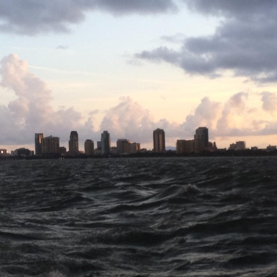 hurricane dorian florida downtown st. pete tampa bay waves