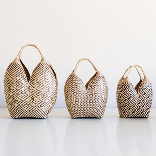 The Azulina Home Cuatro Tetas baskets in three different sizes