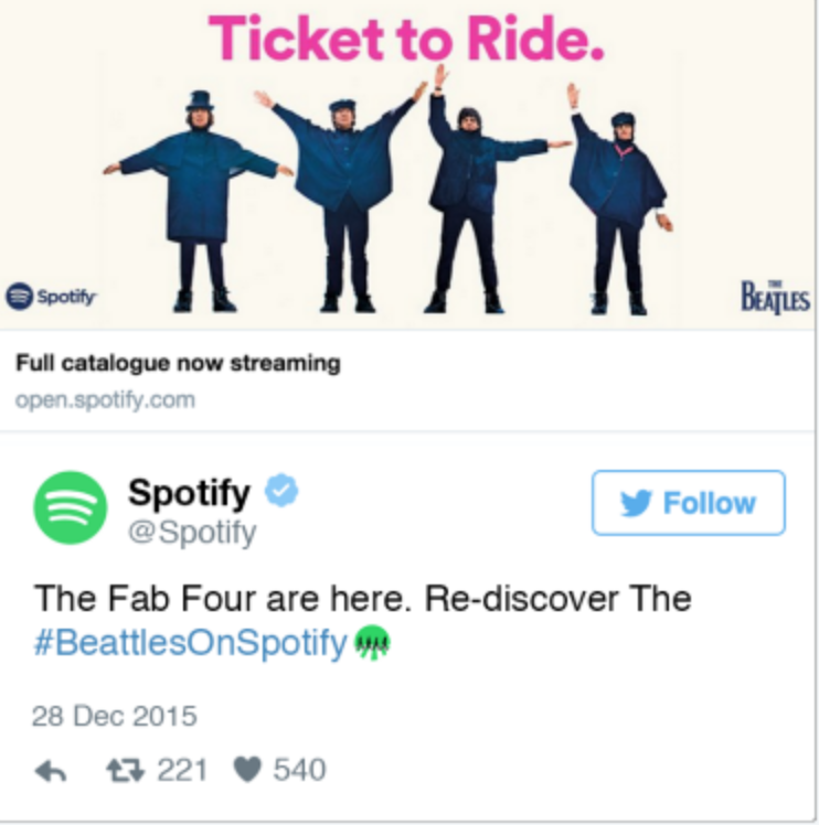 #BeatlesOnSpotify