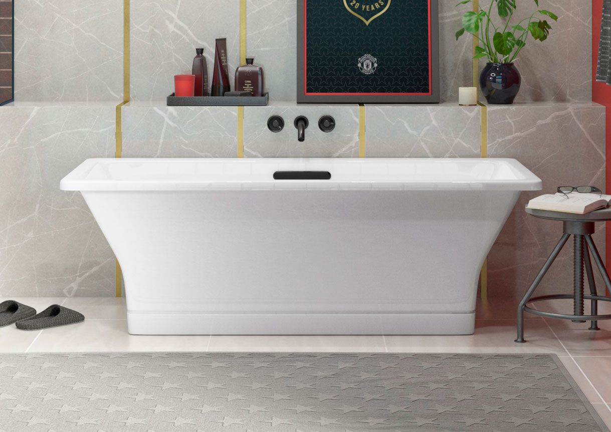 KOHLER® RÊVE® FREESTANDING BATH     Relax and recover like a pro in a soaking bath.  LEARN MORE