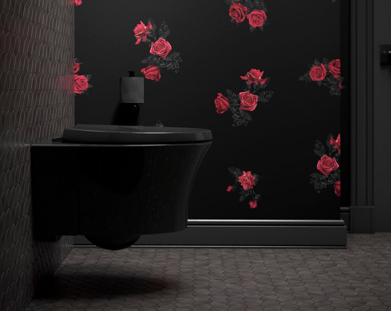 VEIL ™  WALL-HUNG TOILET   Capture the elegance and sophistication of Man UTD's all-black third kit with the Veil wall-hung toilet.   LEARN MORE