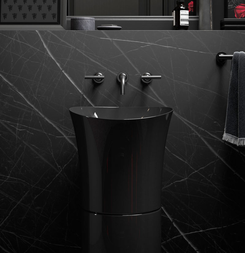 VEIL ™  PEDESTAL SINK   Enjoy the winning combination of simple design and refined form with the Veil pedestal sink.   LEARN MORE