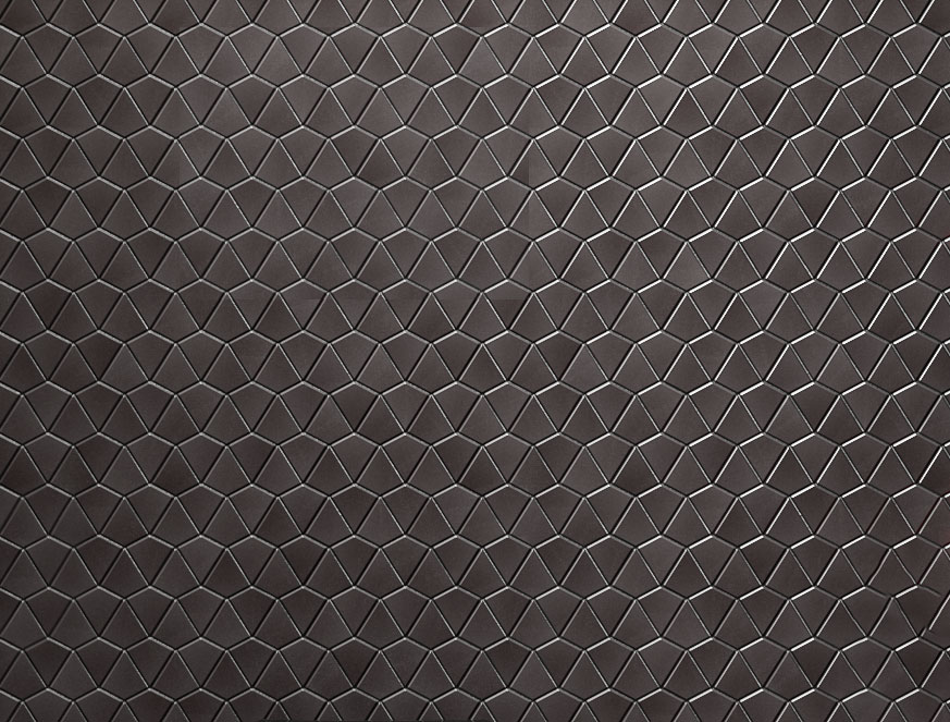 ANN SACKS® SAVOY MOSAIC ARROWHEAD TILE  Add energy to your room with a bold metallic tile, mirroring the high contrast of the kit's Lancaster rose pattern.  LEARN MORE