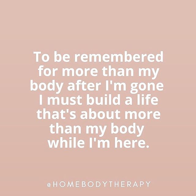 🚨 TRUTH BOMB #realtalk ALERT. Had to repost the words from @homebodytherapy that stopped me in my tracks. How do you want to be remembered?? Really. Think about it.  As the girl who never went swimming bc she was too embarrassed to wear a swimsuit? 👙 The girl who stood in the back of photos to hide herself? The girl who never stopped talking about wanting a different body?  No. Nope. Not me. Not anymore. I refuse for this to be what I leave behind for humanity. I will be the one who runs into the ocean with abandon. Who cheers with joy to celebrate what my body can do + what my life can look like. I don't know entirely HOW to do this...and I guarantee sometimes I will fall back into my old ways of judgement + body shaming...but will you join me? Will you help me?  I know we talked about this in my stories already, but it's too good just to stop there: What do you want to be remembered for? Let's discuss: 👇🏼👇🏽👇🏾