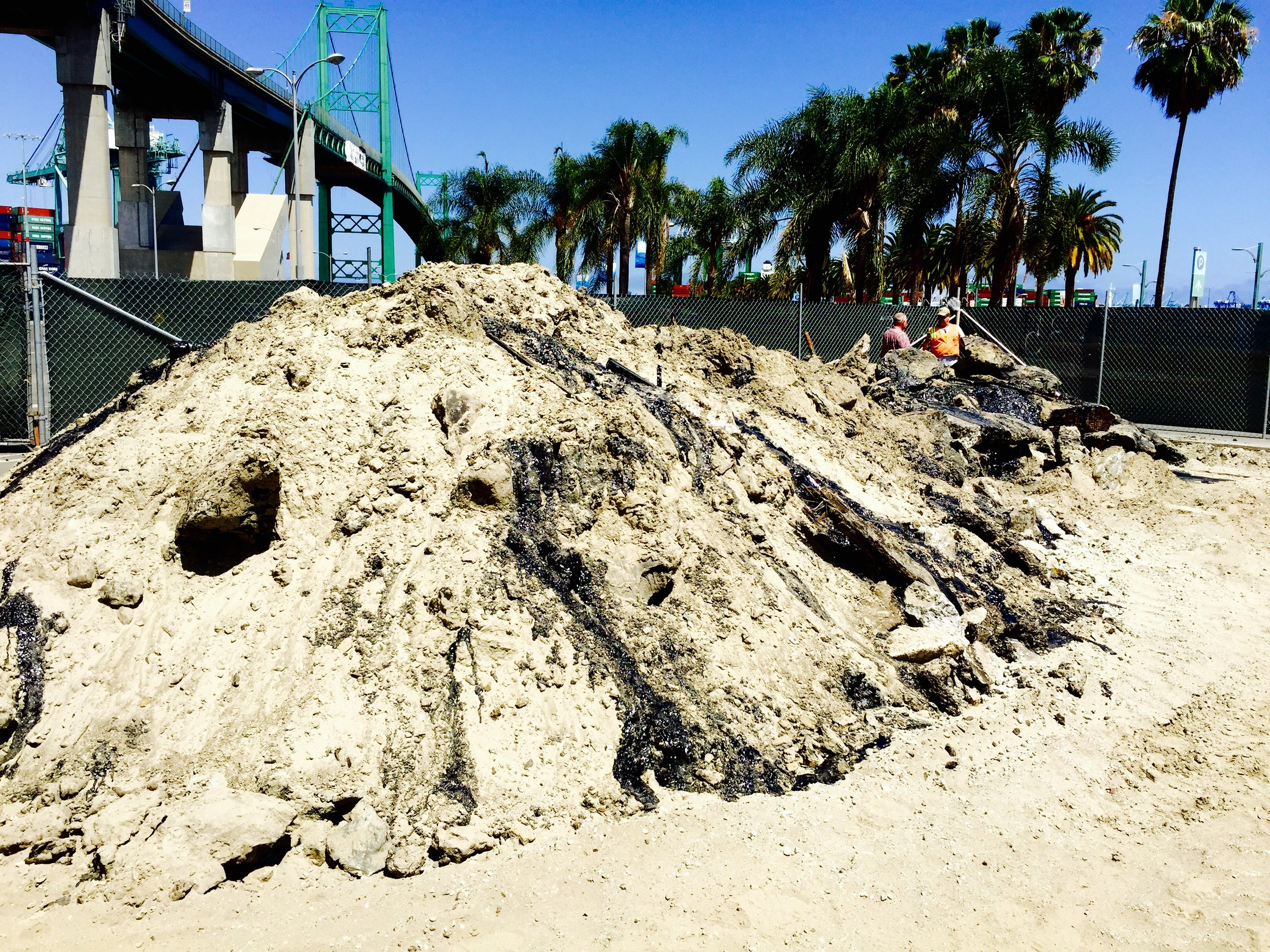 PCB Contaminated soil remediated from the Port of Los Angeles