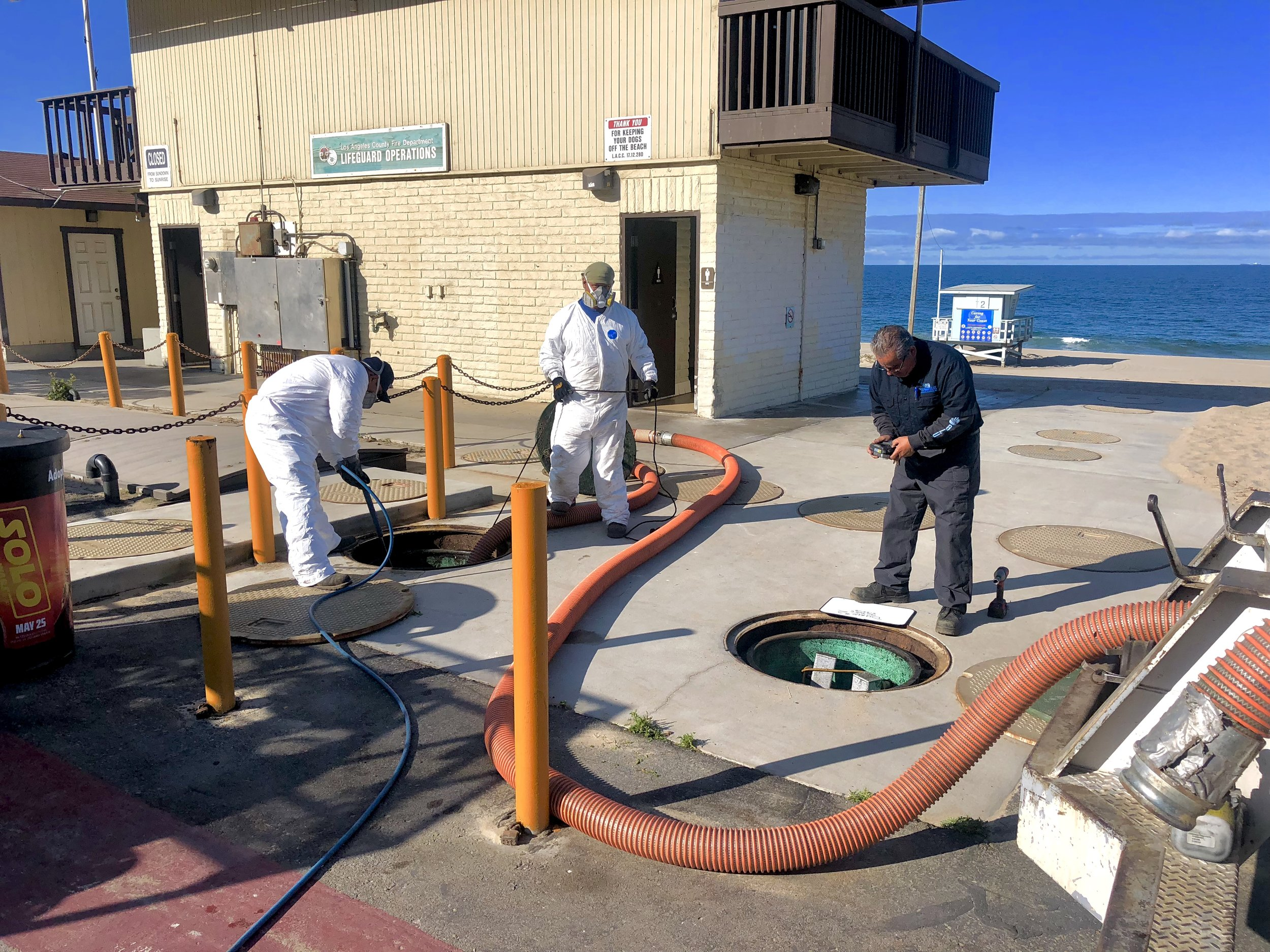 Septic Tank Services - Ocean Blue regularly services Septic Tanks & responds to Septic Tank overflows.