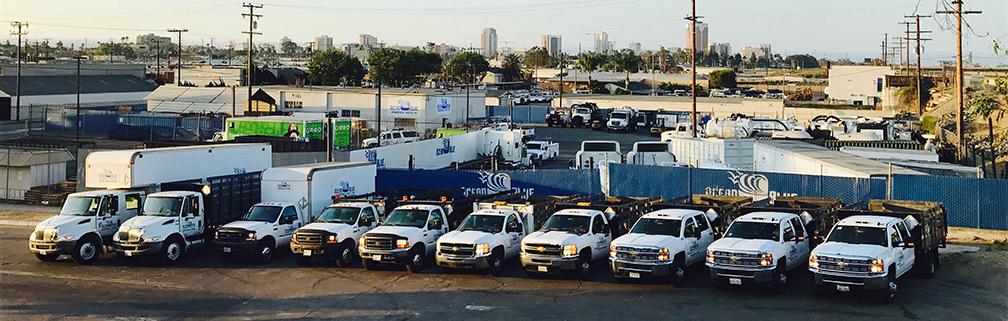 Our fleet of Stake-bed & Box-van gear trucks