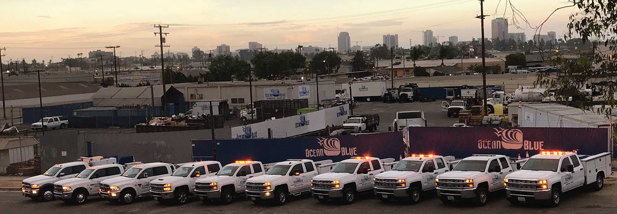 Our fleet of Supervisor trucks (these trucks are all take-home, to ensure a quicker response)