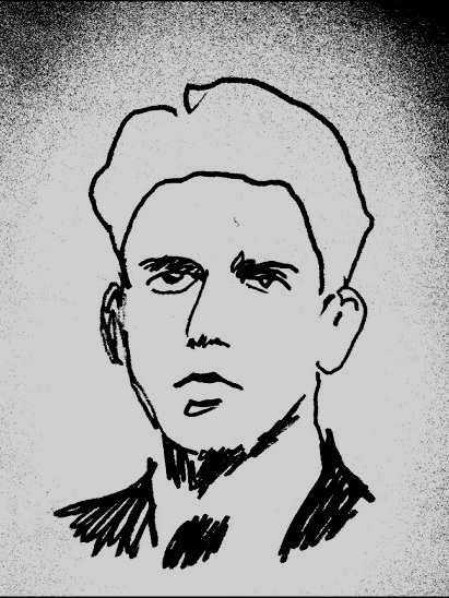 (Drawing of a young Gerard Reve by Jana Michel)