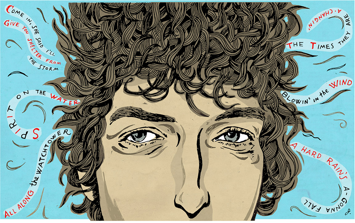 Bob Dylan portrait - a same-day assignment for The Wall Street Journal.