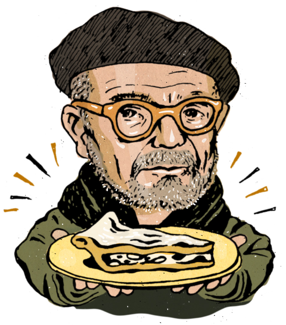 """David Mamet for Milk Street Magazine: """"We must have a pie. Stress cannot exist in the presence of a pie."""""""
