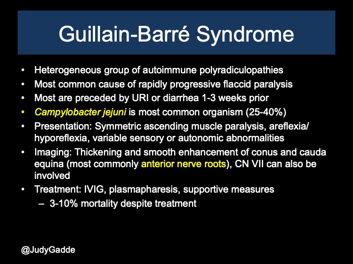 Guillain-Barre syndrome  GBS