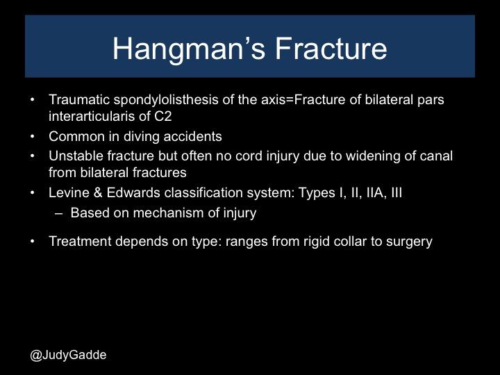 Hangman's fractures
