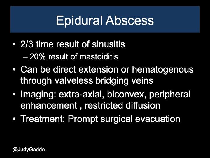 Epidural abscess