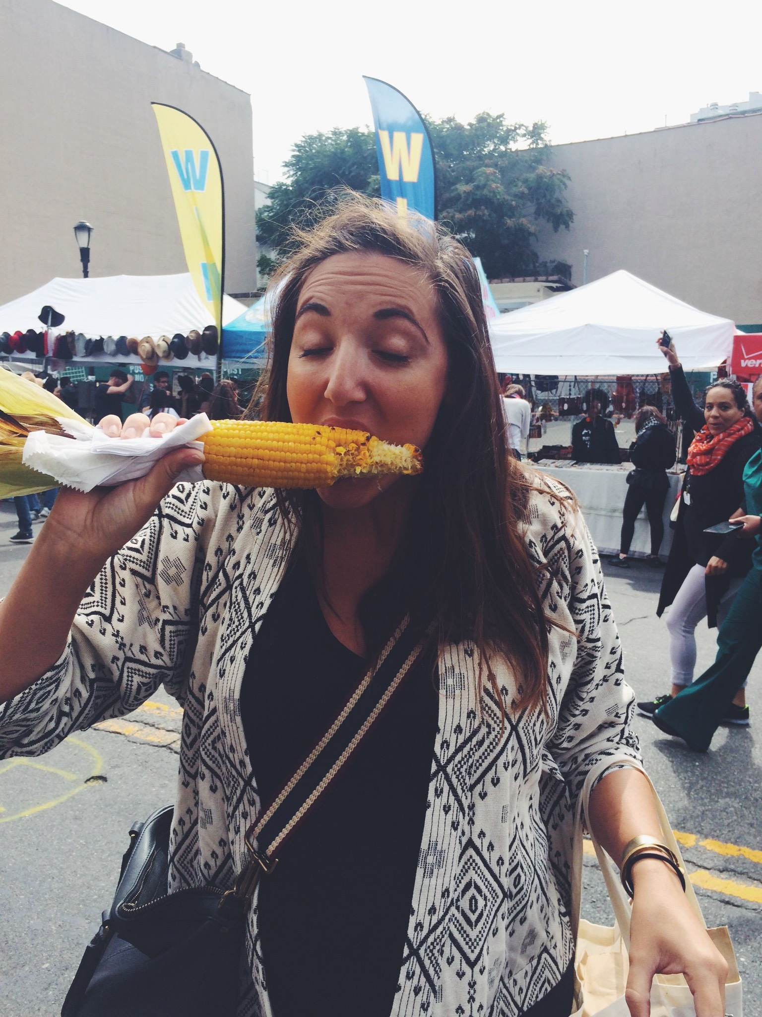 This is my at a street fair in NYC while I was pregnant with Mila.