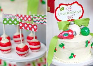 Peppermint white chocolate cake pops! Festive vanilla cake with vanilla buttercream. Cake decorations made with fondant.