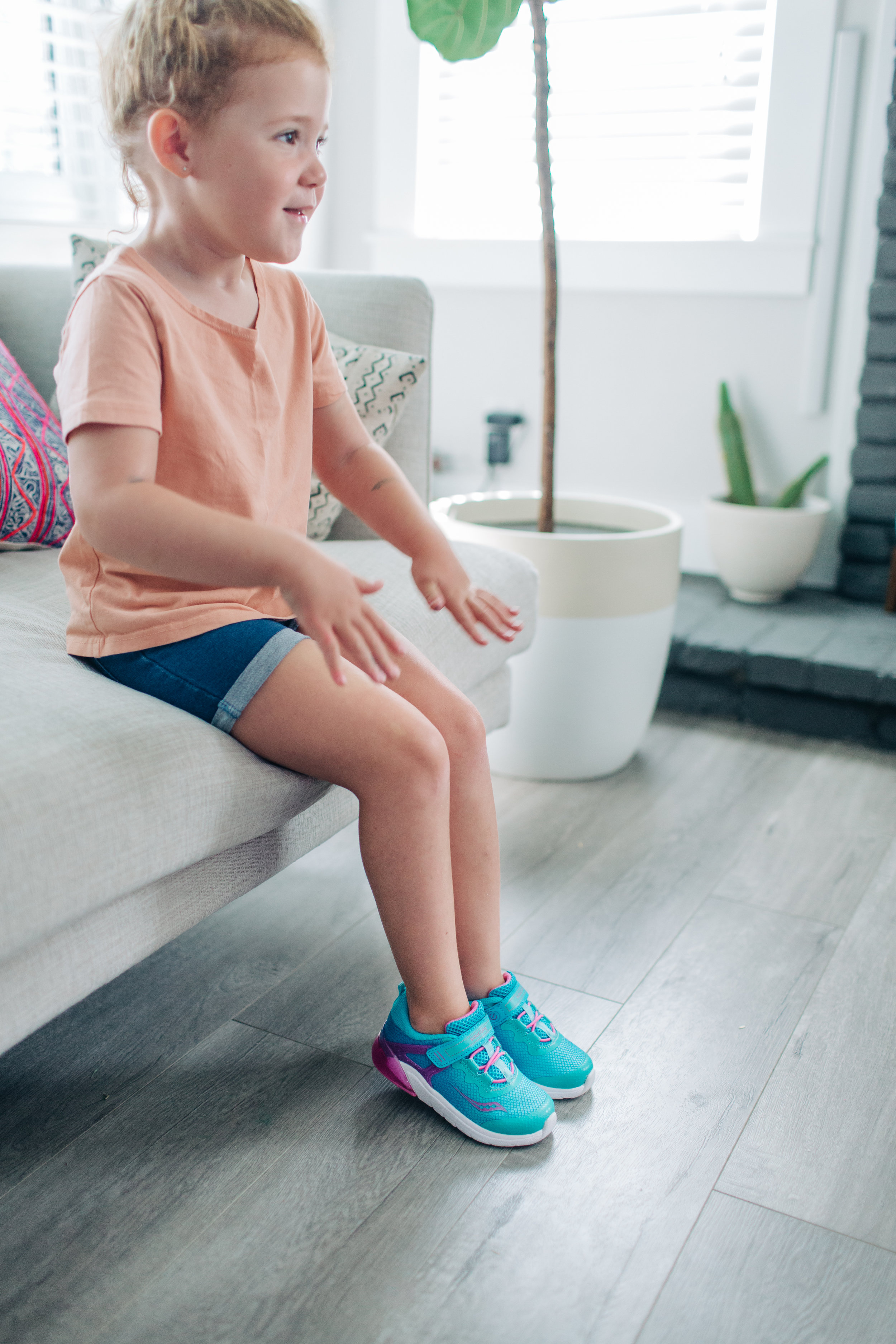 Mila's favorite right now are her  Saucony Kids Flash Glow  shoes! The perfect light up sneaker!