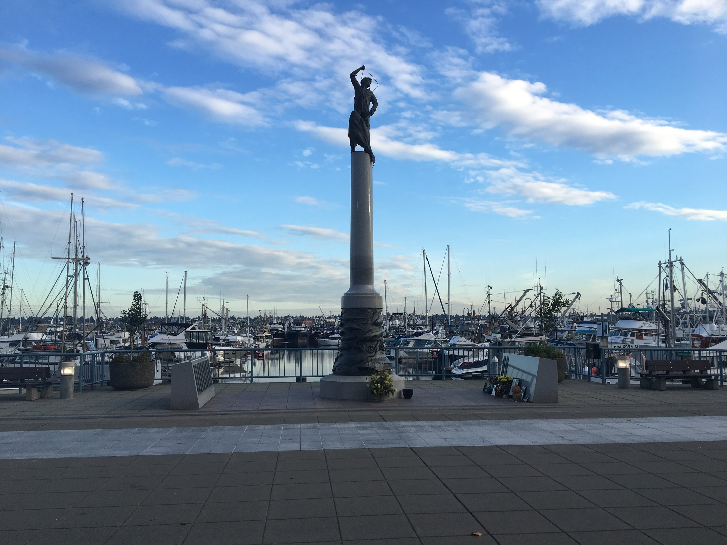 Seattle's Fishermen's Terminal -  Fishermen's Memorial