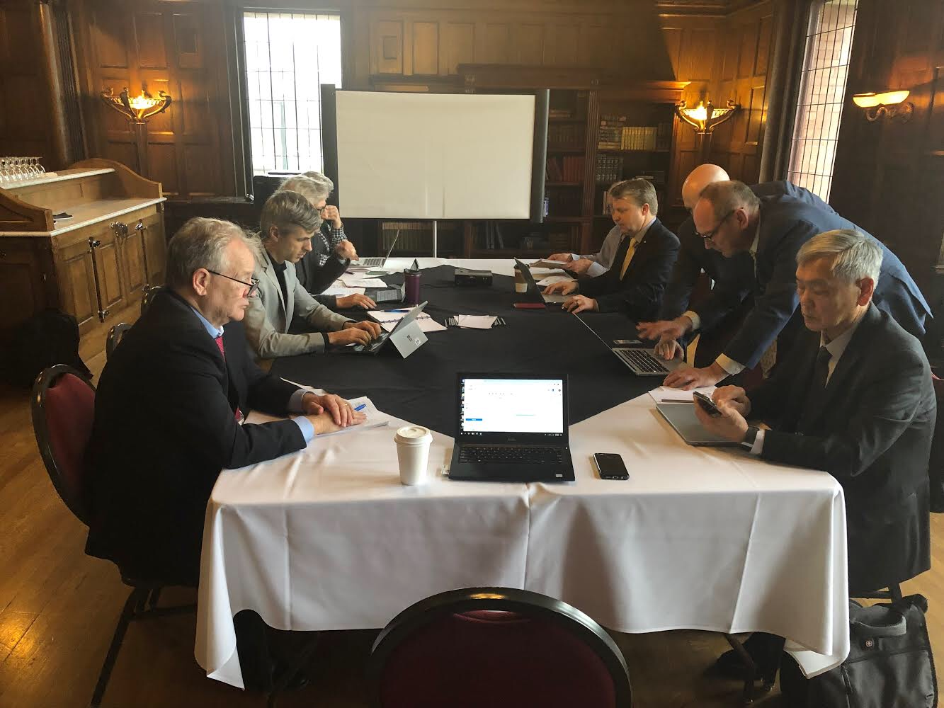 Senior U.S. IPHC Commissioner Robert Alverson (L) leads the important effort at securing a negotiated agreement with Canada over the 2019 Pacific Halibut Harvest limits and season duration.