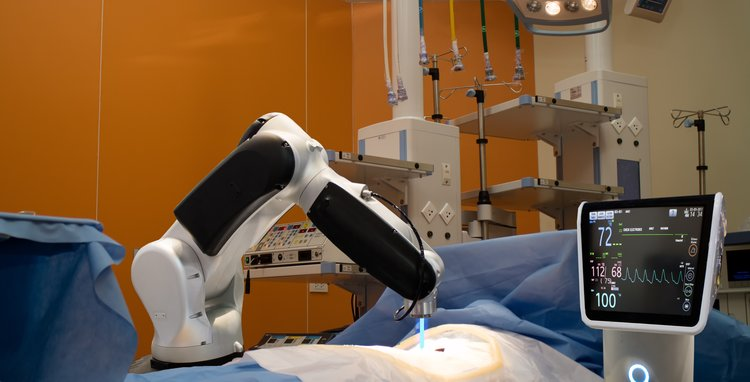 File image of surgical robotics