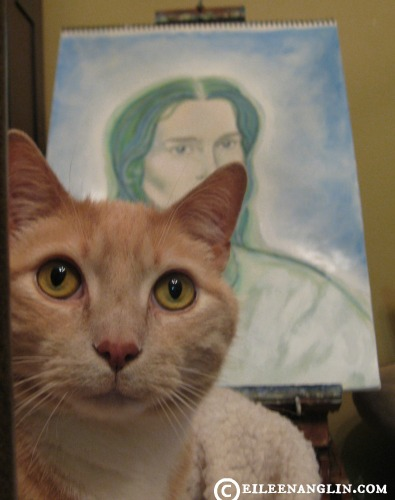 My boy A.O. loves to spend time with me when I am writing, drawing and painting.
