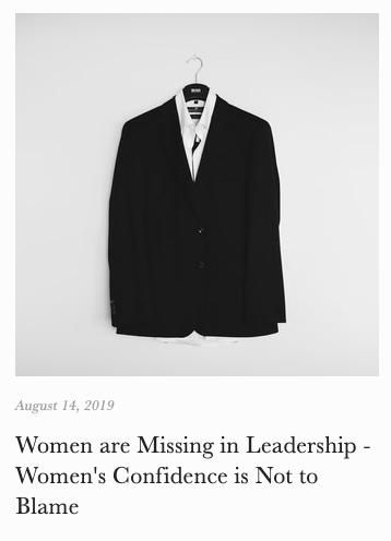 women leadership confidence