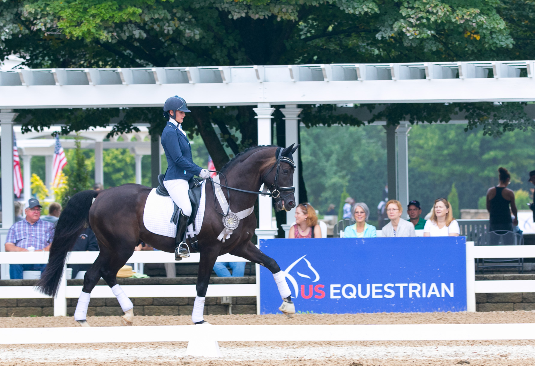 US NATIONAL CHAMPIONSHIP - Congratulations to team Davos CF and Anna Rae-Sue Keenan on a final placing of 9th in the US National Four Year Old Championships. There were some miscommunications in the Final test right in the beginning, but then the rest of the test went well. Proud of both of them.