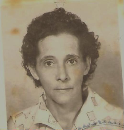 Doña Gabriela in her 20s.