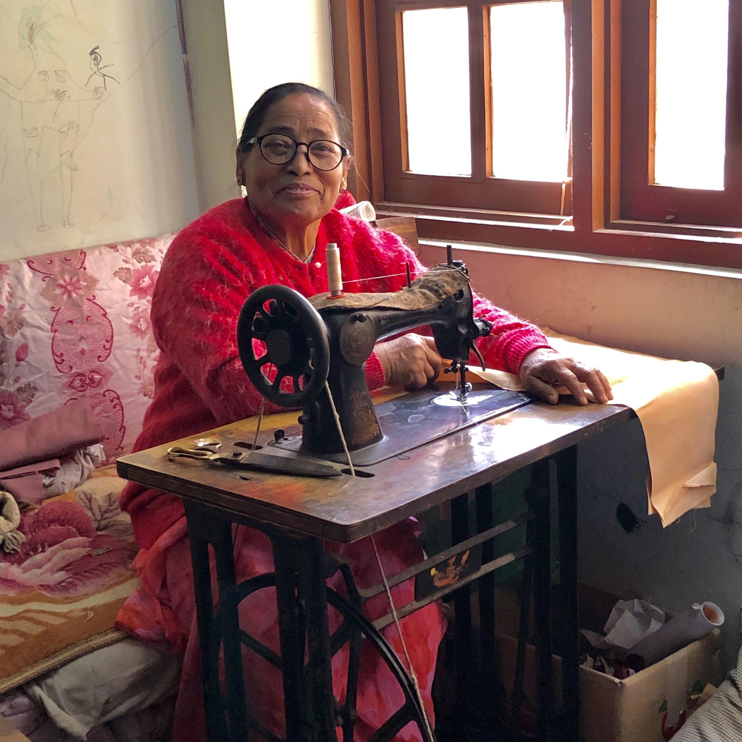 Pragya Shakya in her workspace in her home in Shreebahal, Patan.