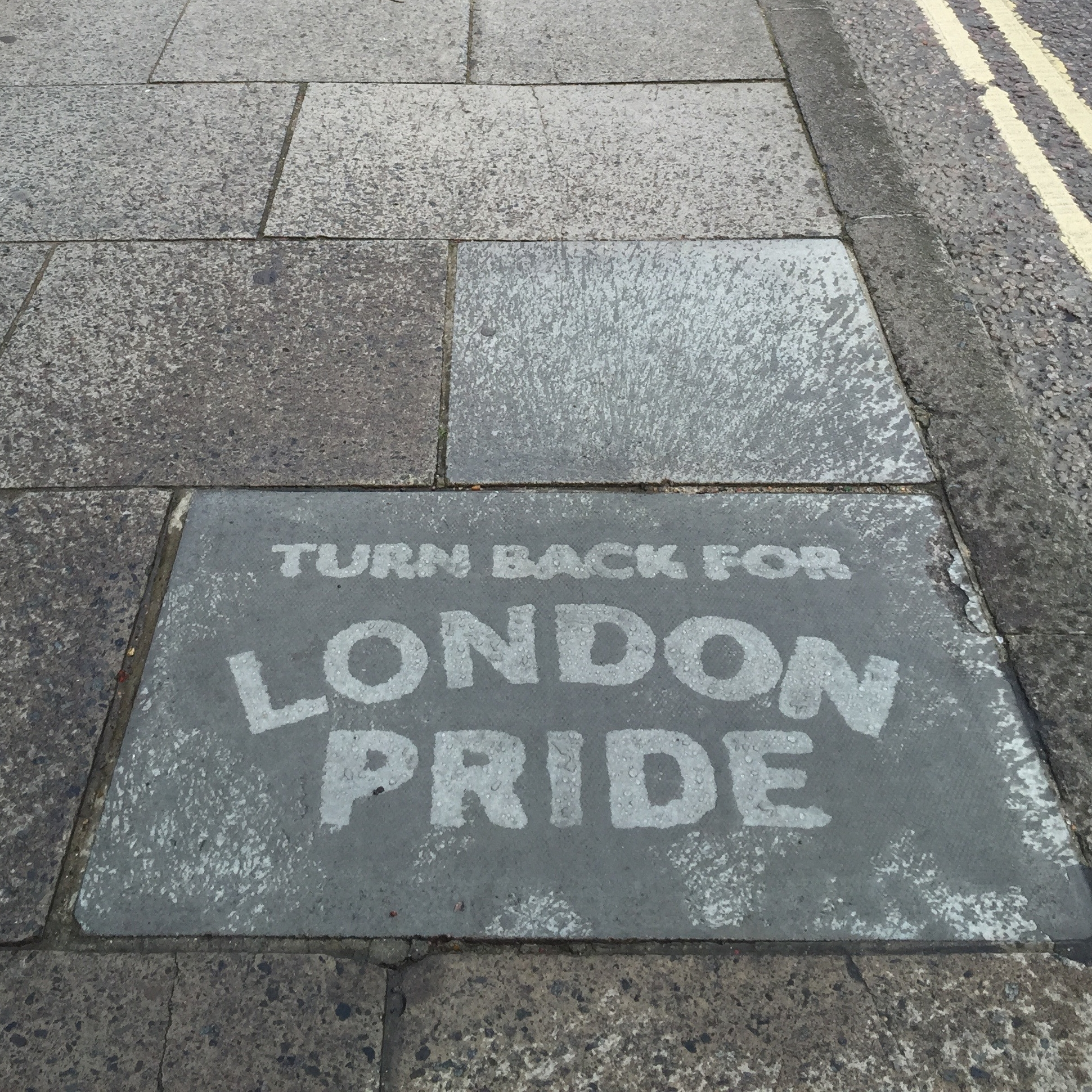 London Pride Reverse Graffiti