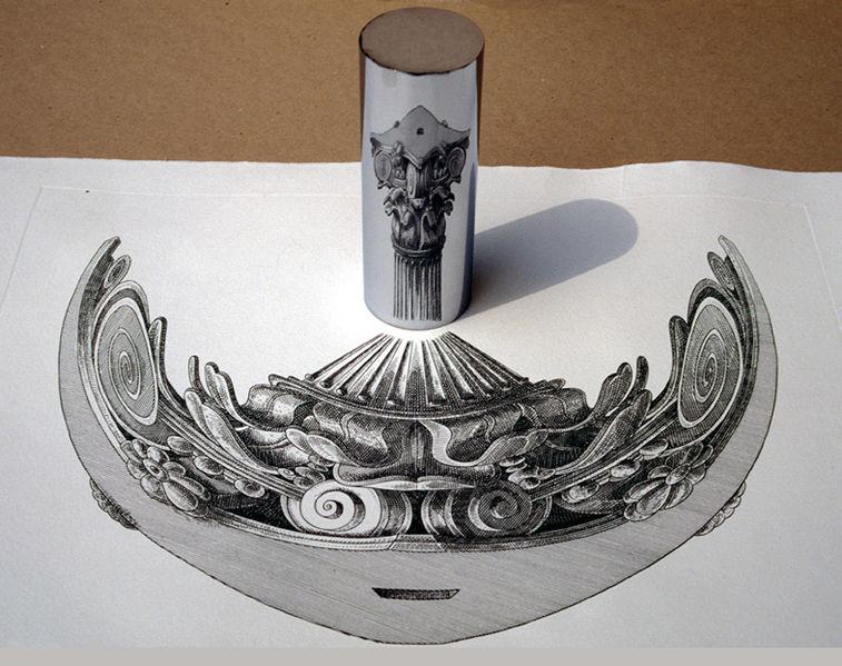 cylindrical mirror anamorphosis