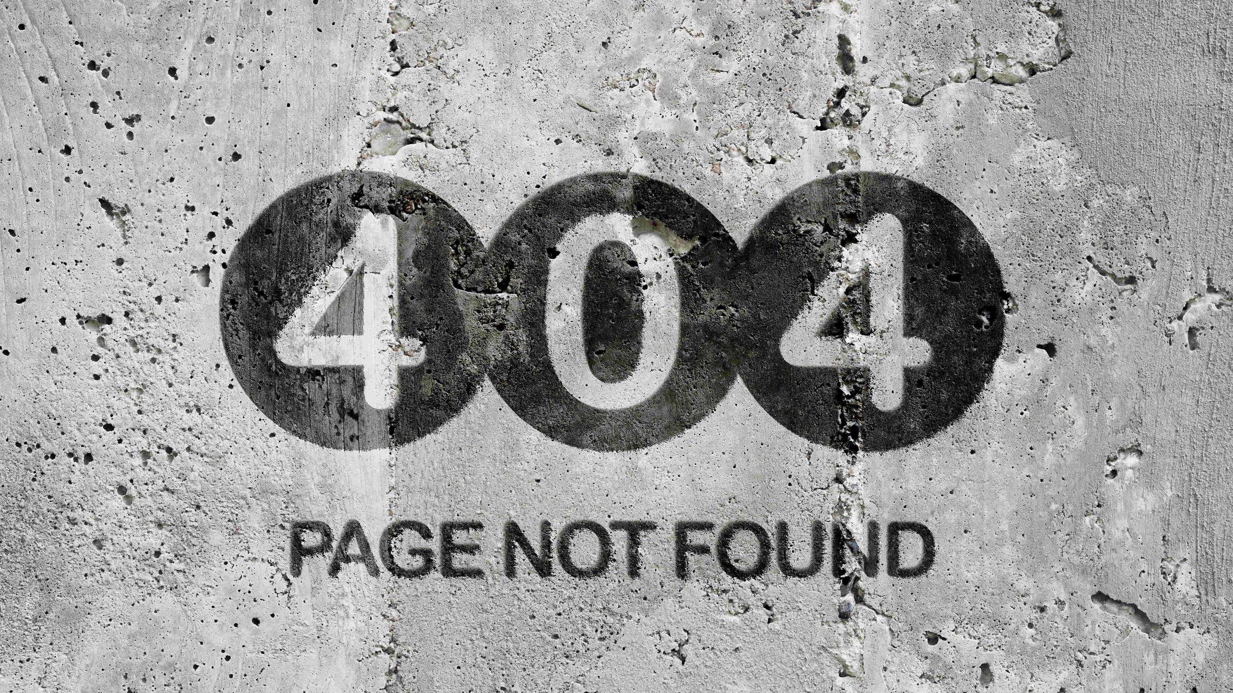 404 page not found graffiti